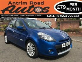 2010 RENAULT CLIO 1.2 DYNAMIQUE TOMTOM ** ONLY 55,000 MILES ** FINANCE AVAILABLE WITH NO DEPOSIT **