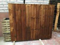 🌟 Pressure Treated Brown Feather Edge Fence Panels