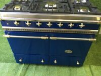 Blue & Brass Lacanche Cluny range cooker Double Oven kitchen Appliance French