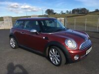 2007 Mini One 1.4 6 Speed, 11 Months Mot, 95500, Chilli Pack, Metallic Red 17in Alloys Half Leather