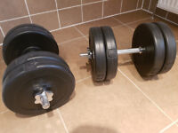 Brand New Condition Pair Of Dumbells Weighing 45KG Combined