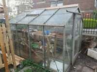Greenhouse approx 4 sqm with sliding door