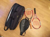 Tennis SET. 2 Wilson rackets. Head bag. Clima-cool compartment inside TOP of the range bag