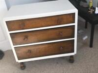 Upcycled oak chest of drawers