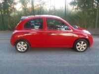 2005 Nissan Micra, 1.2 Litre Petrol in Red, Low Insurance Group and Road Tax, HPI Clear