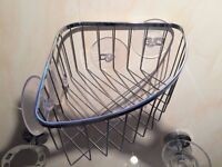 Stainless Steel Bathroom/Shower/Kitchen storage basket (Strong Suction Cups)