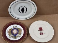 3 x Rare Vintage Winston Churchill Plates - Job-lot collection -
