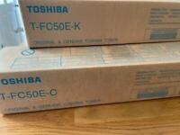 Toshiba Toner for photocopier x 5 colours (black x 2, cyan x1, yellow x 1, magenta x1)