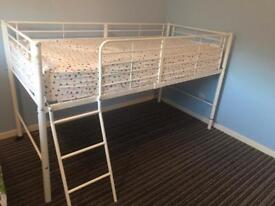 White Metal sleeper cabin bed Frame