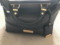 Carvela bag, black with gold trims