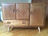 Ercol Windsor elm sideboard. Model 467, in natural finish. Retro/vintage. Good used condition.