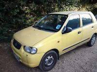 PRICE REDUCED Suzuki alto 1.0 petrol manual. No mot runs and drives
