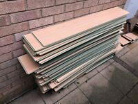 QUICK STEP CLIP TOGETHER LAMINATE FLOORING USED JOB LOT - FITS A LARGE AREA