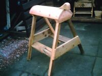 Wooden Horse Saddle