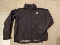 Men's black The North Face waterproof Jacket, size large. Great condition
