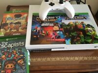 X Box one 500gb, with 4 games, minecraft and escapists