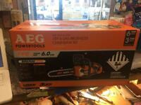 Aeg chainsaw new and brushless boxed