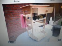 PINE KITCHEN TROLLEY