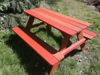 kids picnic/garden bench/table - use indoors or outside!