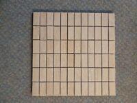 Mosaic Tiles - Beige rectangular stone effect
