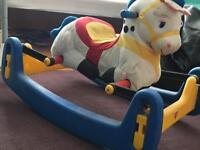 Kids bounce horse