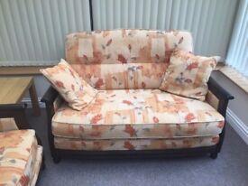 Designer ERCOL BERGERE 3 piece suite: sofa & 2 armchairs