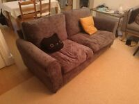 Charcoal Two Seater Fabric Sofa