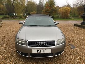 2005 05 Audi A4 s line convertible cabriolet 3.0 petrol manual 72000 miles full history