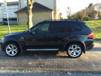 "BMW X5 3.0d sport auto 2007 ""57"" black with black leather & privacy glass NEWER SHAPE"