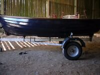 10ft9inches boat fully refurbished,with galvinished trailer £450 ono