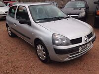 2006 RENAULT CLIO 1.2 CAMPUS LOW INSURANCE GROUP! 1 YEAR MOT