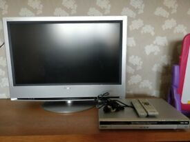 Sony Bravia TV Along with hdd CD DVD player and writer