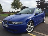 2005 SEAT LEON CUPRA 1.8T 210BHP HPI CLEAR 12 MONTHS MOT CRUISE CONTROL SERVICE HISTORY