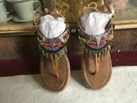 Ladies Indian toes sandals size 6/39 used £3