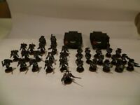 PAINTED Warhammer 40K Space Marine Army Raven Guard with CASE