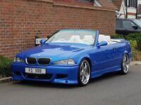 SHOW CAR BMW M3 (E36) 3.2 EVO CONVERTIBLE - ESTORIL BLUE - VERSACE INTERIOR - HARD TOP - FBMWSH -