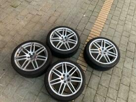 """Audi A1 GENUINE 18"""" Allow Wheels + Tyres Set of 4, Silver S Line"""
