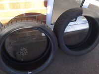 Pair of brand new tyres 205 40 17