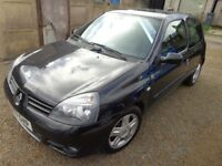 2007 Renault Clio Campus Sport 16V 1.2 Petrol Black 3 Door Low Miles Long MOT Warranty Available