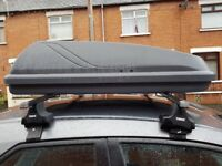 Grey roof rack for a Honda Civic. Great condition, barely used.