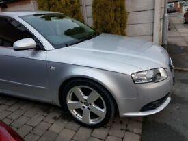 Audi a4 sline 2008 automatic gear box full service history silver coloure new tyre diesel engine