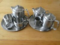 Vintage Old Hall Stainless Steel Teapot set and other accessories