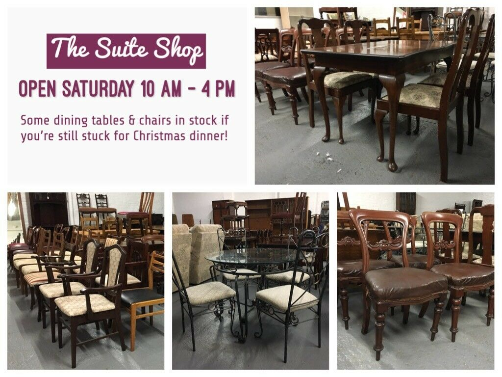 ** DINING TABLES & CHAIRS, PLUS OTHER FURNITURE