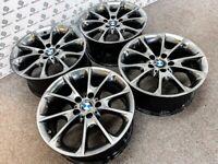 "GENUINE BMW 1/2/3/4 SERIES 18"" ALLOY WHEELS - 5 x 120 - SHADOW CHROME FINISH"