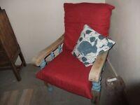 wooden armchair / fireside chair