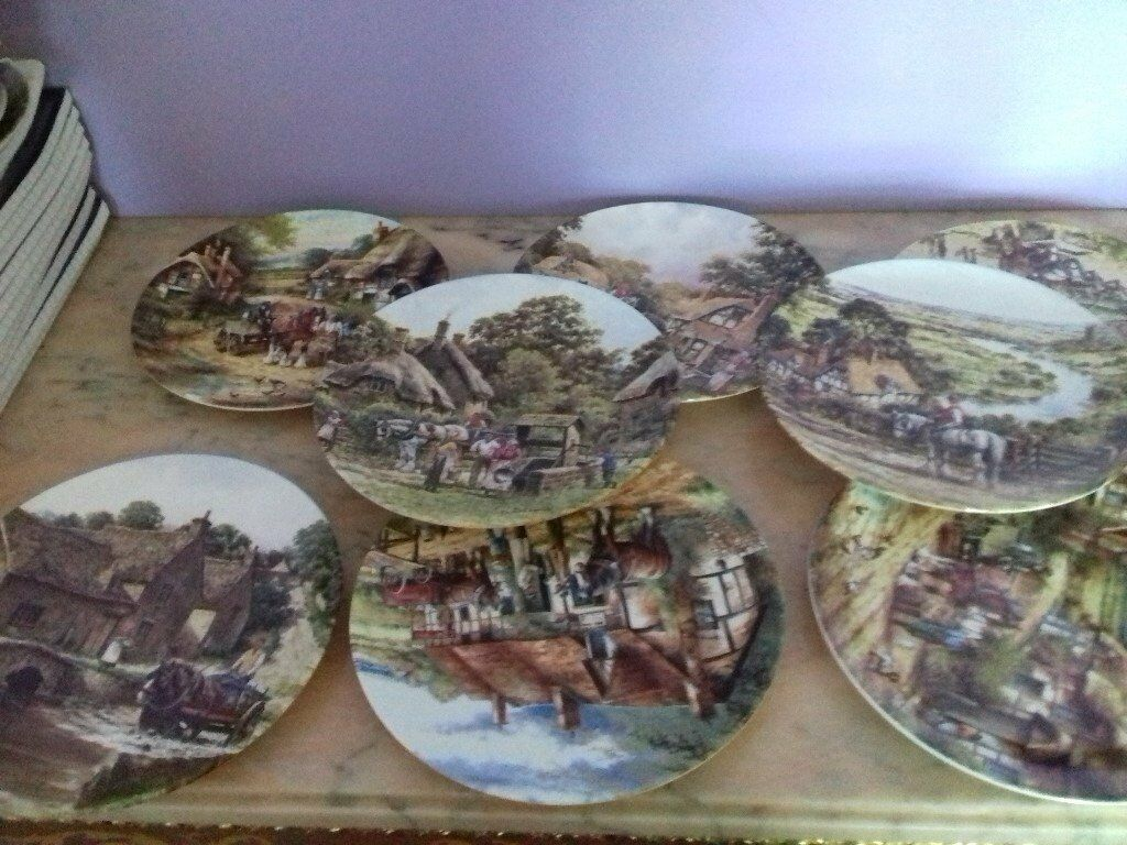 18 Royal Doulton Numbered Collection, Country Scene Plates, Ideal Carbooter
