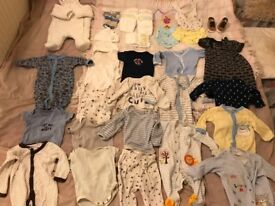 HUGE BABY BUNDLE OF CLOTHES SHOES JACKED 0-3 9 12 MONTHS