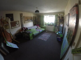 light airy, large double room with a big window