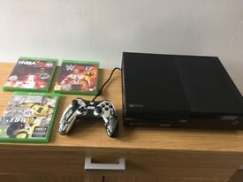 (Mint Condition) XBOX One 500GB with Controller & 3 Games (FIFA 17, WWE 2K17, NBA 2K16)