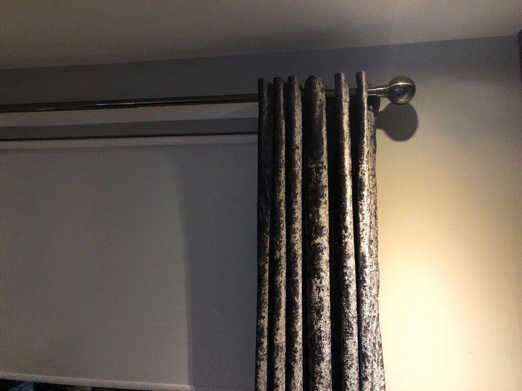 eb73efd5da3 Chrome curtain pole
